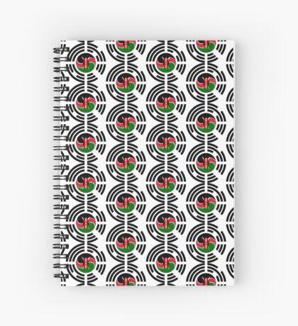 Kenyan Korean Multinational Patriot Flag Series Spiral Notebook