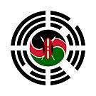 Kenyan Korean Multinational Patriot Flag Series by Carbon-Fibre Media