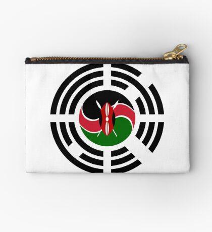 Kenyan Korean Multinational Patriot Flag Series Zipper Pouch