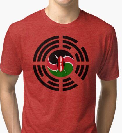Kenyan Korean Multinational Patriot Flag Series Tri-blend T-Shirt
