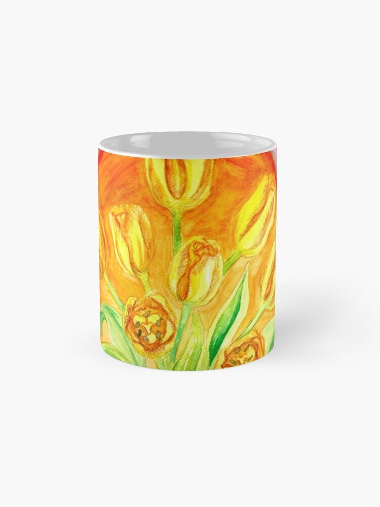 Alternate view of Tulip Flower Bouquet - Watercolor Painting Mug