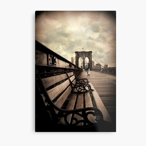 Brooklyn Bridge Respite Metal Print