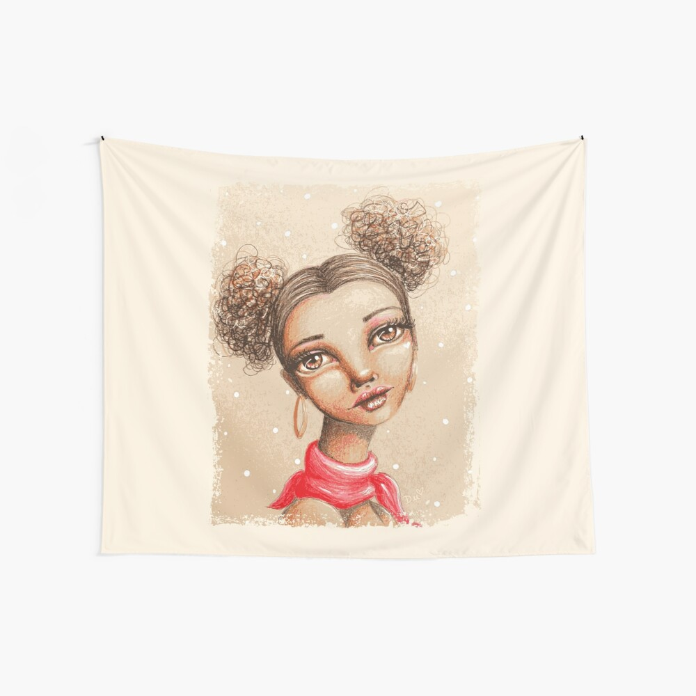 Curly Buns Wall Tapestry