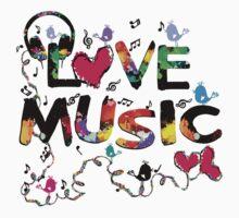 LOVE MUSIC Kids Tee