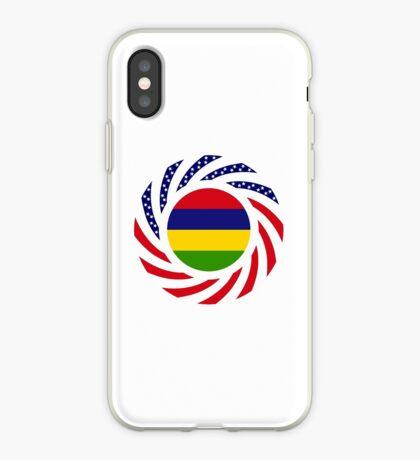 Mauritian American Multinational Patriot Flag Series iPhone Case