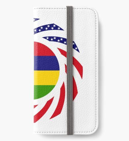 Mauritian American Multinational Patriot Flag Series iPhone Wallet