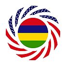Mauritian American Multinational Patriot Flag Series by Carbon-Fibre Media