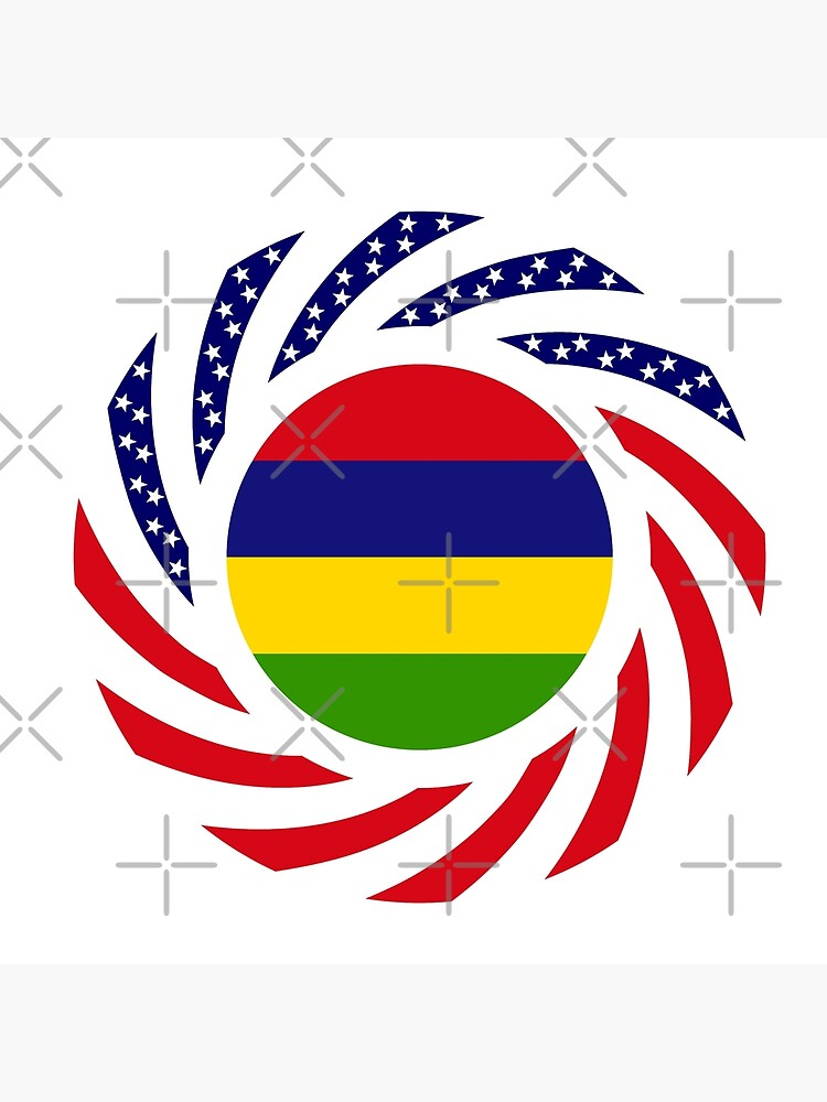 Mauritian American Multinational Patriot Flag Series by carbonfibreme