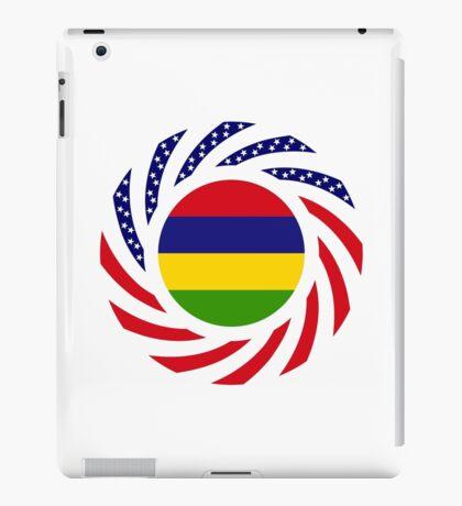 Mauritian American Multinational Patriot Flag Series iPad Case/Skin