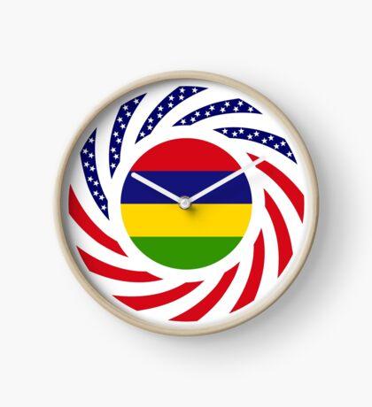 Mauritian American Multinational Patriot Flag Series Clock