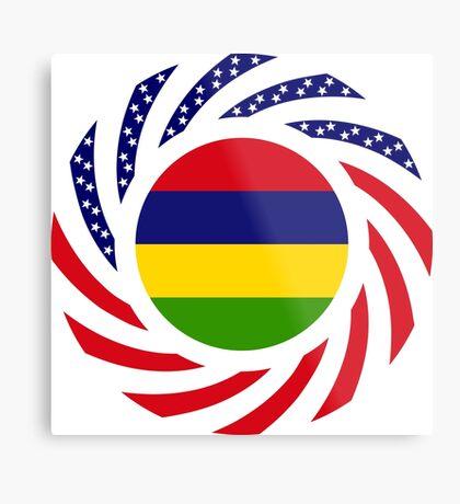 Mauritian American Multinational Patriot Flag Series Metal Print