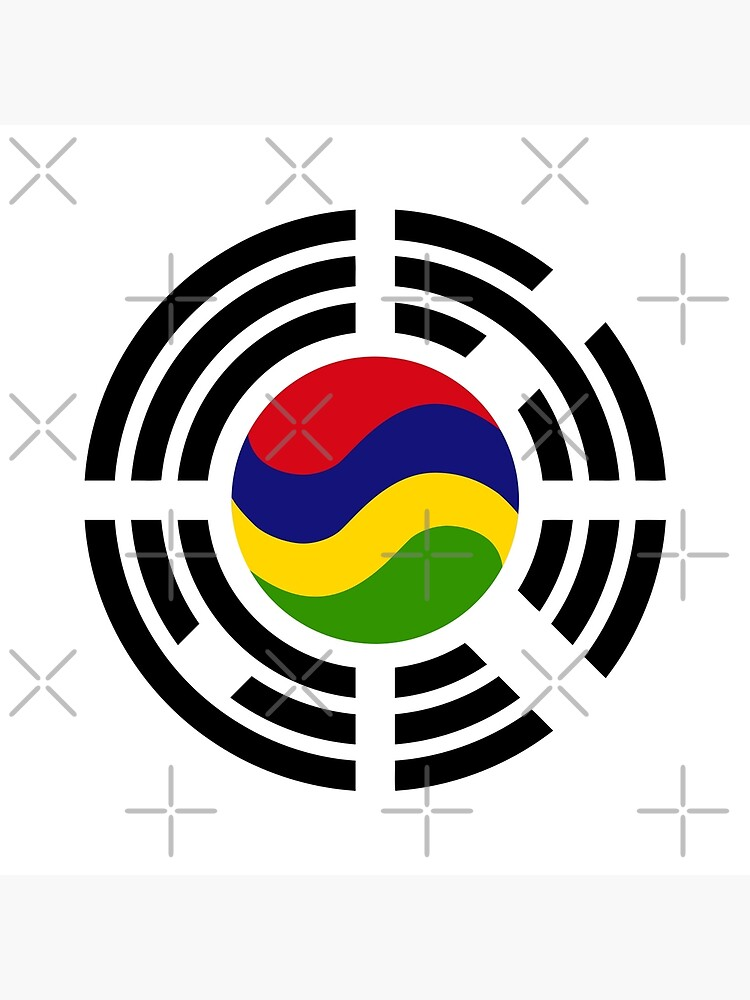 Mauritian Korean Multinational Patriot Flag Series by carbonfibreme