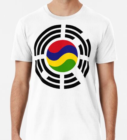 Mauritian Korean Multinational Patriot Flag Series Premium T-Shirt