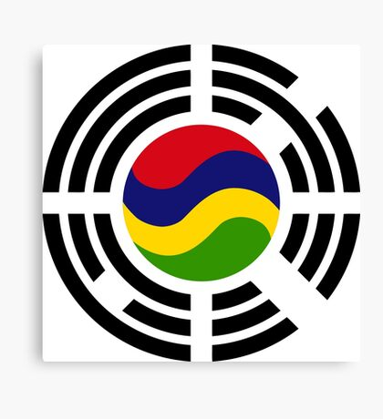 Mauritian Korean Multinational Patriot Flag Series Canvas Print