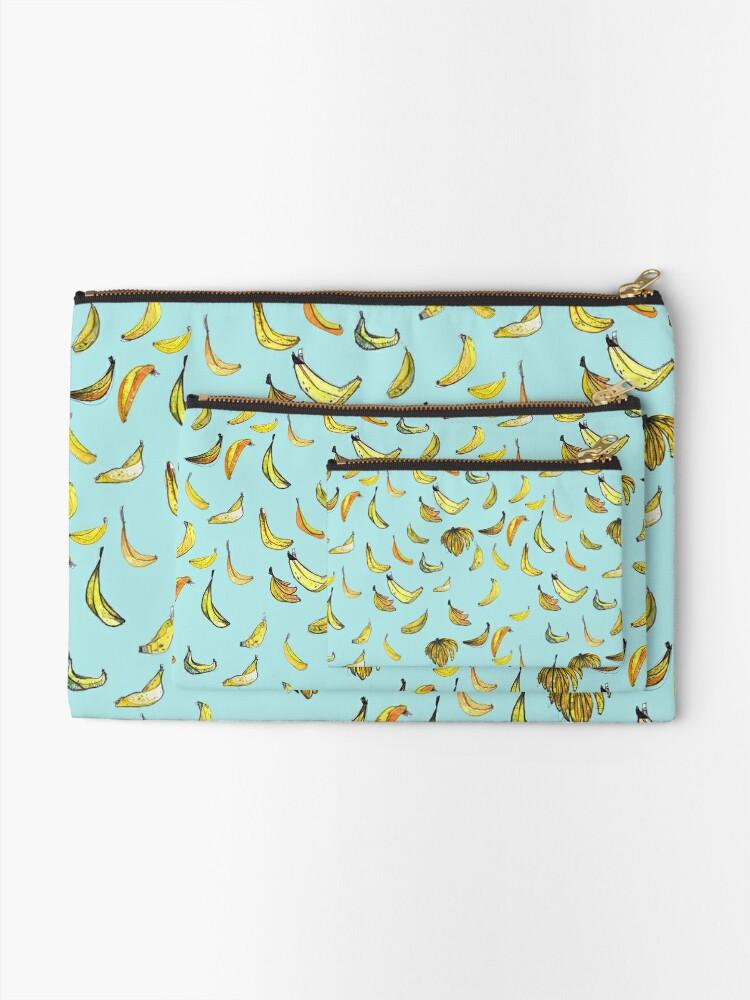 Alternate view of Bananas Zipper Pouch