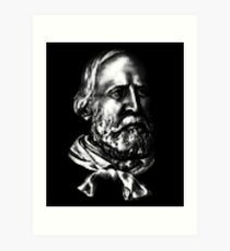 Giuseppe Garibaldi, portrait Art Print
