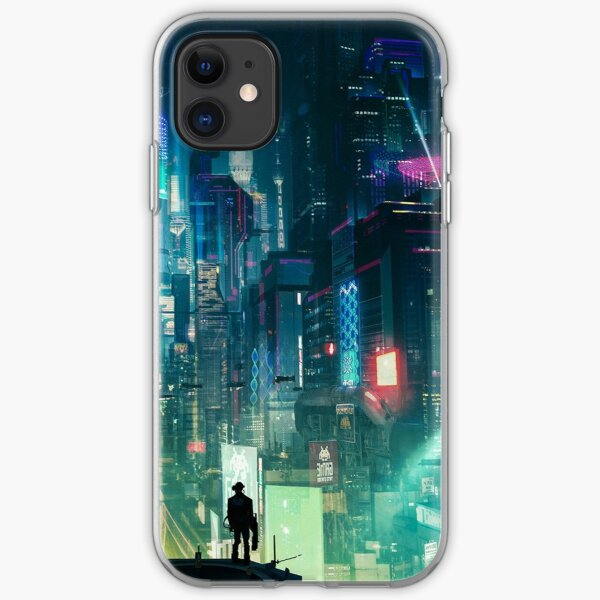 Mega City Nights Futuristic Tokyo iPhone Soft Case