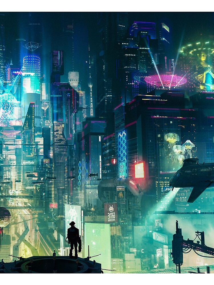 Mega City Nights Futuristic Tokyo by mia-scott