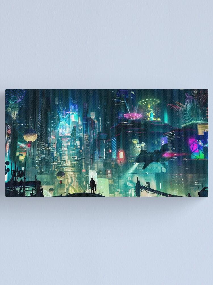 Alternate view of Mega City Nights Futuristic Tokyo Canvas Print