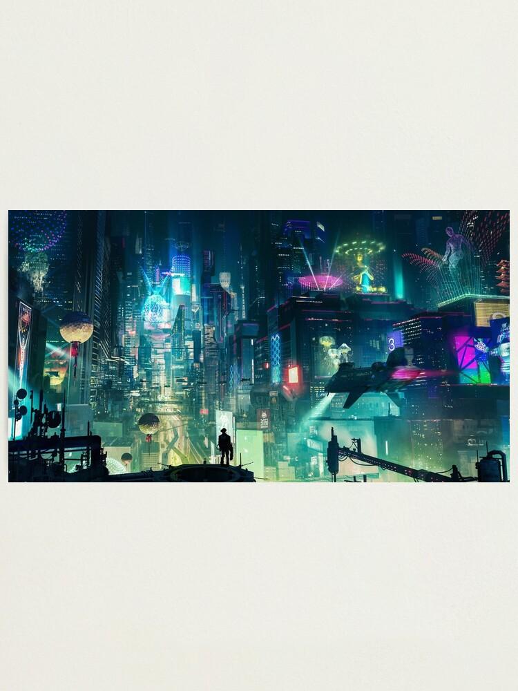 Alternate view of Mega City Nights Futuristic Tokyo Photographic Print