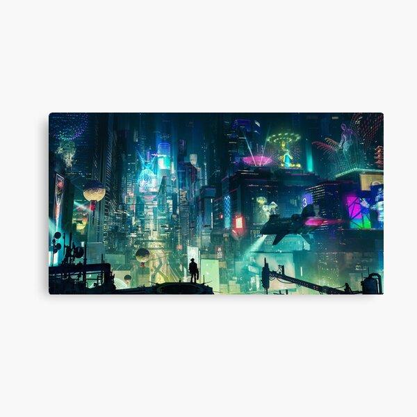 Mega City Nights Tokio futurista Lienzo