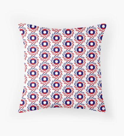 Lao American Multinational Patriot Flag Series Floor Pillow