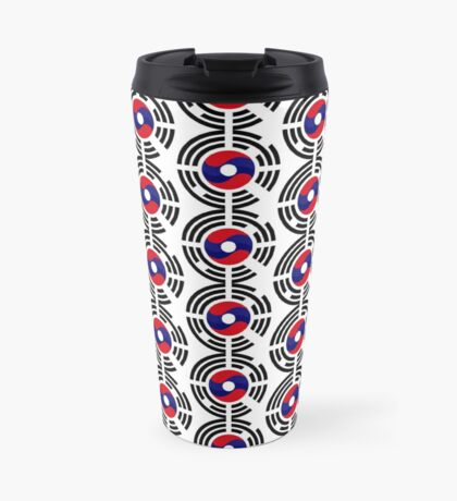 Lao Korean Multinational Patriot Flag Series Travel Mug