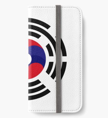 Lao Korean Multinational Patriot Flag Series iPhone Wallet