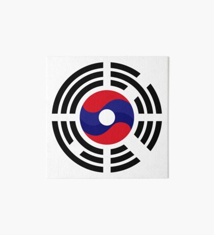 Lao Korean Multinational Patriot Flag Series Art Board Print