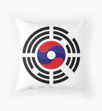 Lao Korean Multinational Patriot Flag Series Throw Pillow