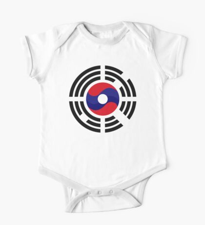 Lao Korean Multinational Patriot Flag Series Kids Clothes