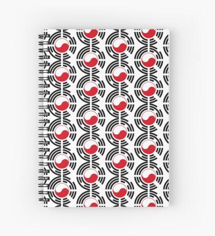 Polish Korean Multinational Patriot Flag Series Spiral Notebook