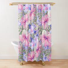 Pastel Vintage Aloha Shower Curtain