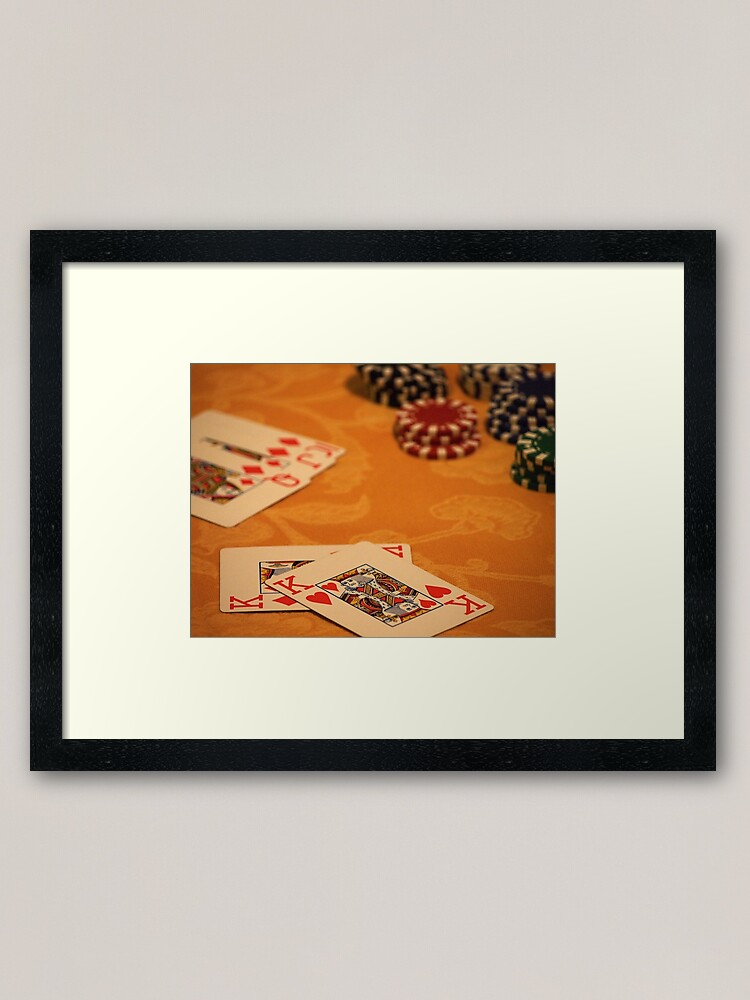 Alternate view of Cards and Chips Framed Art Print