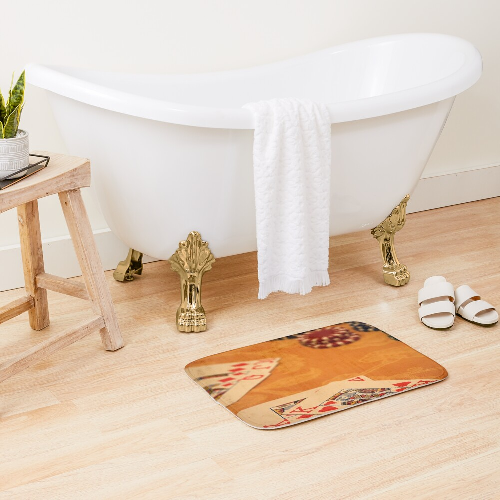 Cards and Chips Bath Mat