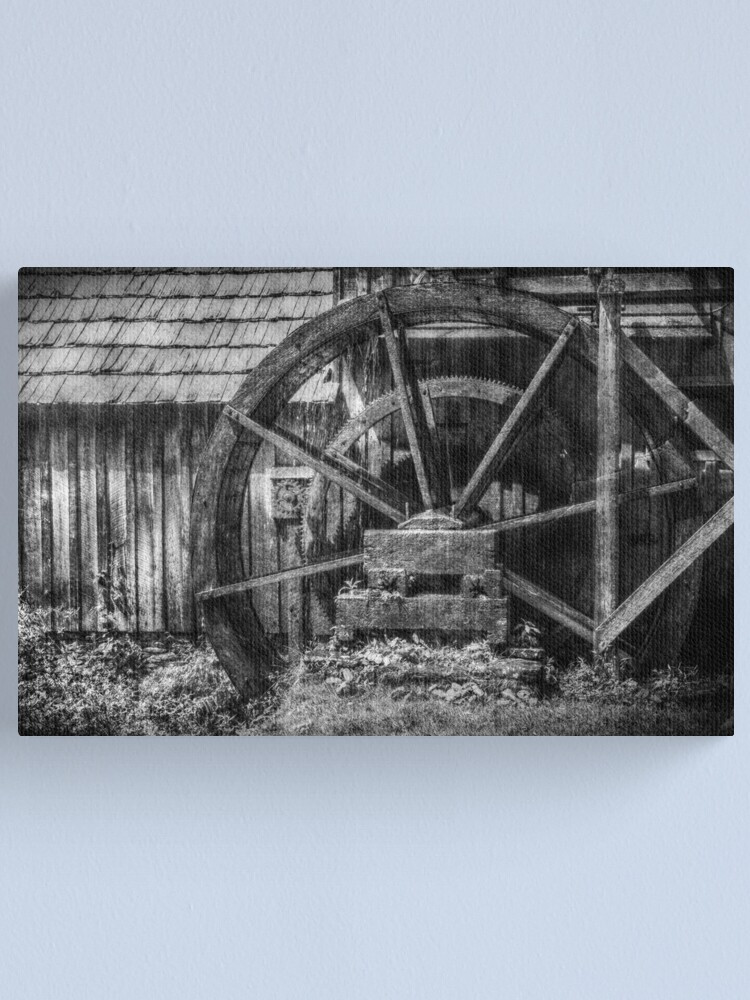 Alternate view of Mabry's Water Wheel Canvas Print