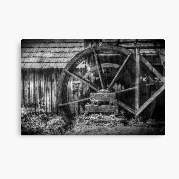 Mabry's Water Wheel Canvas Print