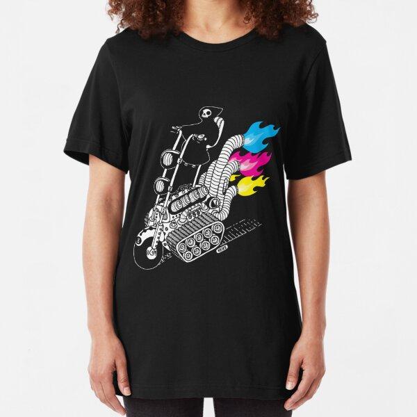 Grim Hellraiser Rides Again Slim Fit T-Shirt