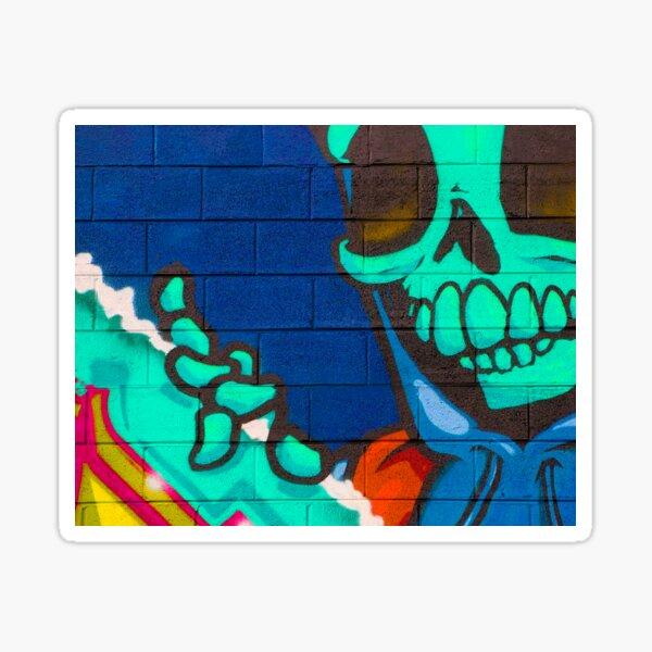 Street Art Skeleton Sticker