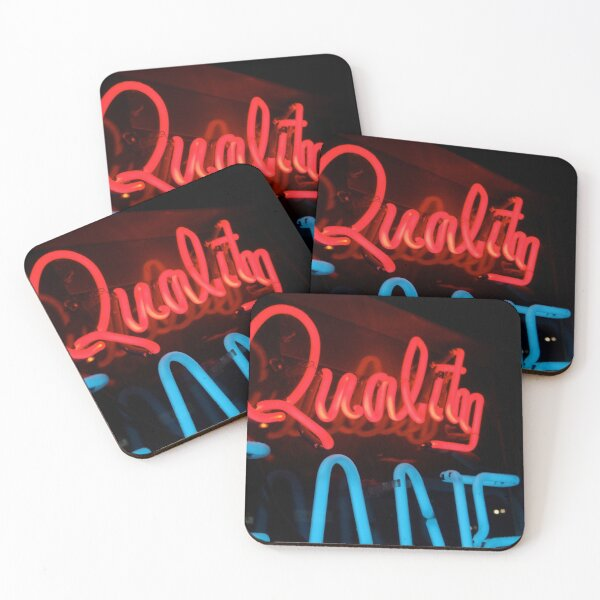 Quality in Neon Coasters (Set of 4)