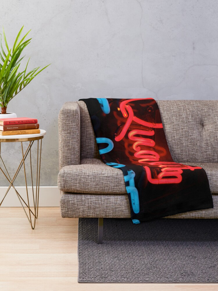 Alternate view of Quality in Neon Throw Blanket