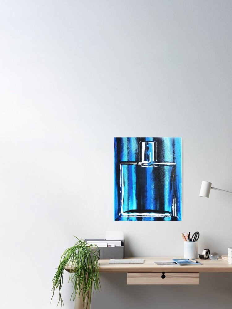Alternate view of Blue Cologne Bottle Poster
