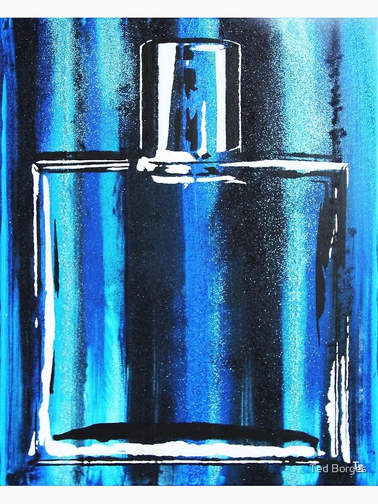 Blue Cologne Bottle by tedborges