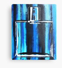 Blue Cologne Bottle Metal Print