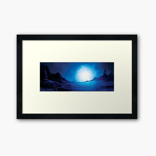 Blue Supergiant Landscape Framed Art Print