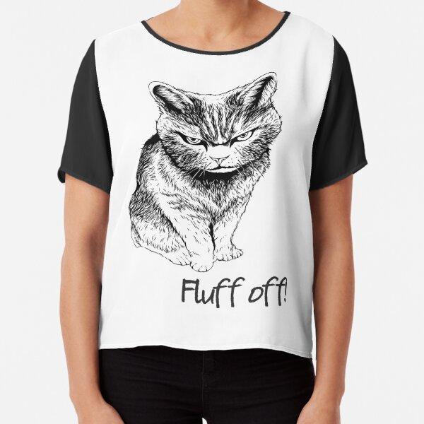 Fluff Off Cat Chiffon Top