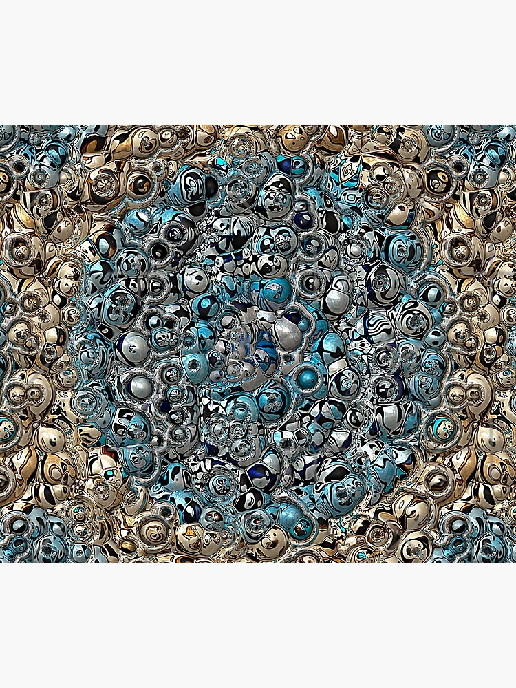 Blue And Beige 3D Abstract by perkinsdesigns