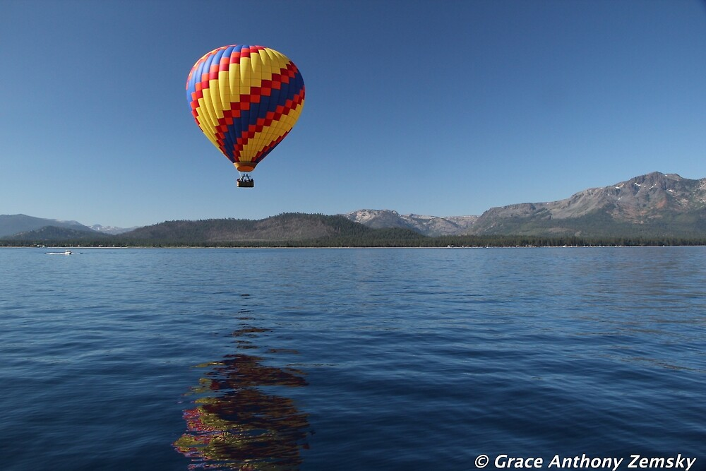 Ballooning over Lake Tahoe by GraceNotes