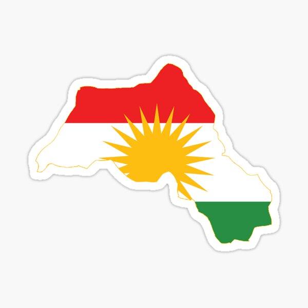 Kurdistan-Flaggen-Karte Sticker