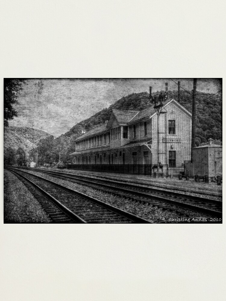 Alternate view of Waiting on the Ghost Train Photographic Print